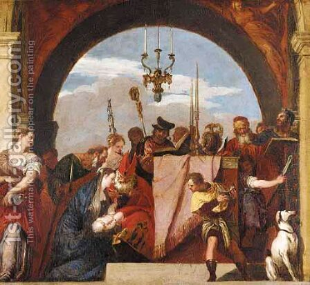 The Presentation Of Jesus At The Temple by (after) Paolo Veronese (Caliari) - Reproduction Oil Painting