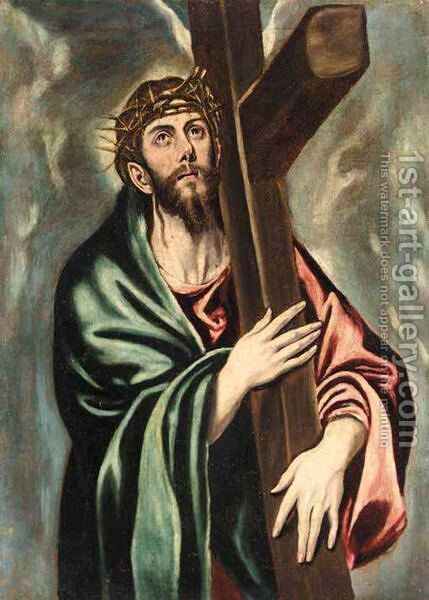 Christ Carrying The Cross 2 by (after) El Greco (Domenikos Theotokopoulos) - Reproduction Oil Painting