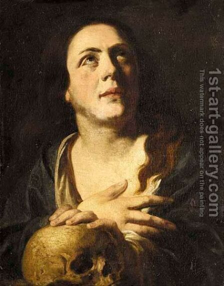 The Penitent Magdalene by (after) Johann Liss - Reproduction Oil Painting