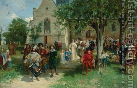 The Baptism 2 by Alfred Louis Vigny Jacomin - Reproduction Oil Painting