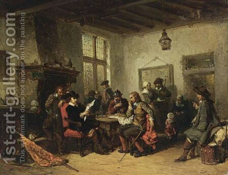At The Inn by Herman Frederik Carel ten Kate - Reproduction Oil Painting