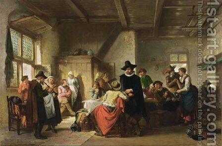 A Merry Company At The Inn by Herman Frederik Carel ten Kate - Reproduction Oil Painting