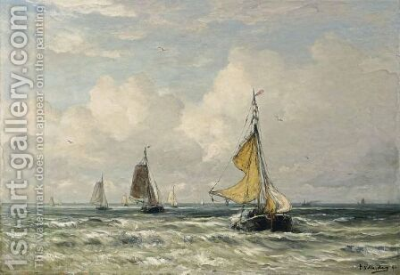 The Return Of The Fishing Fleet, Scheveningen by Hendrik Willem Mesdag - Reproduction Oil Painting