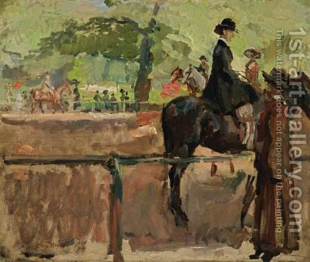 Hyde Park, Rotten Row, London by Isaac Israels - Reproduction Oil Painting
