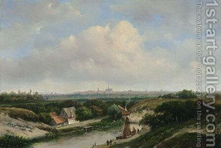 A View Of Haarlem by Jan Hendrik Weissenbruch - Reproduction Oil Painting