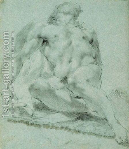 Male Nude by (after) Andrea Sacchi - Reproduction Oil Painting