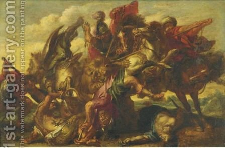 The Conversion Of Saint Paul by (after) Sir Peter Paul Rubens - Reproduction Oil Painting