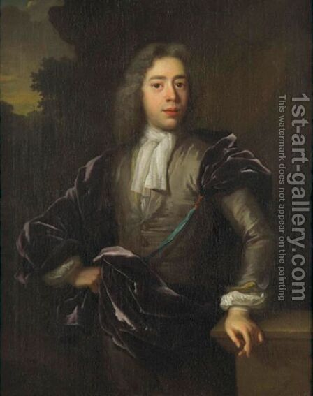 Portrait Of A Gentleman 2 by (after) Adriaen Van Der Werff - Reproduction Oil Painting