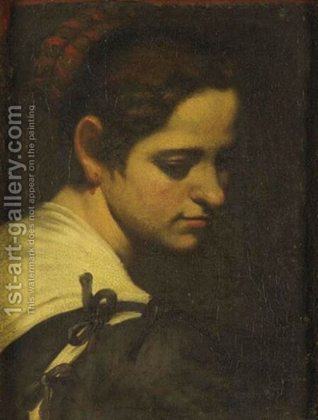 Portrait Of A Woman by (after) Andrea Vaccaro - Reproduction Oil Painting