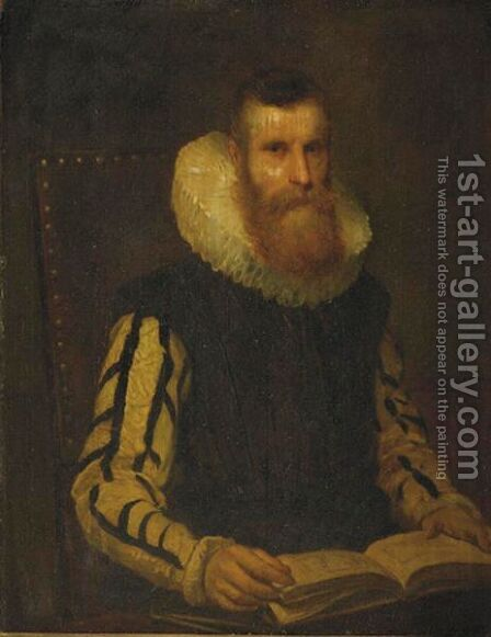 Portrait Of A Man by Dutch School - Reproduction Oil Painting