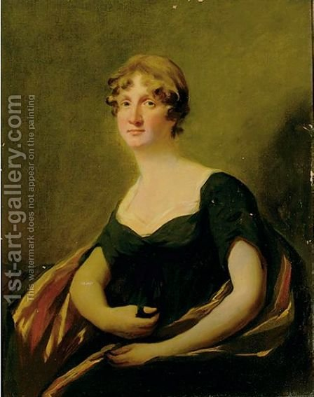 Portrait Of Eleanor Burrell by (after) Sir Henry Raeburn - Reproduction Oil Painting