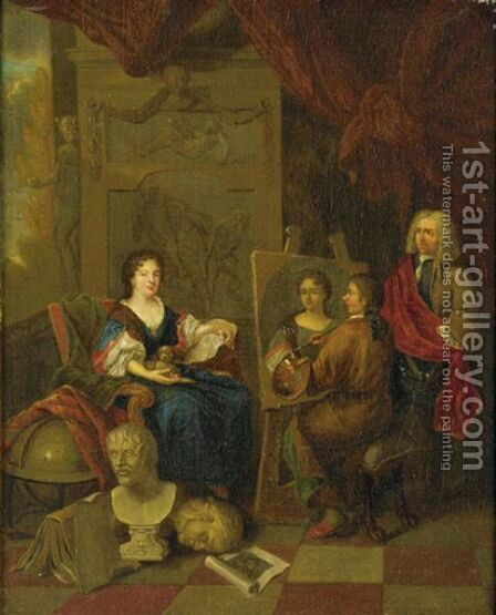 The Artist's Studio by (after) Adriaen Van Der Werff - Reproduction Oil Painting