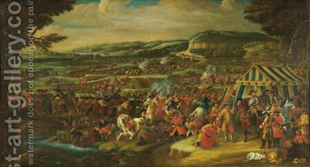 Battle Of Vienna by (after) Adam Frans Van Der Meulen - Reproduction Oil Painting