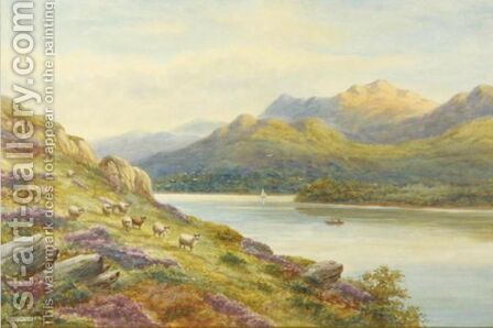 'Near Ladore Derwentwater' And Cader Idris, North Wales' by Harold Lawes - Reproduction Oil Painting