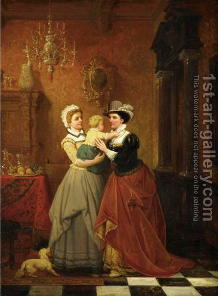 Returning To Mother by Hendrik Frans Schaefels - Reproduction Oil Painting