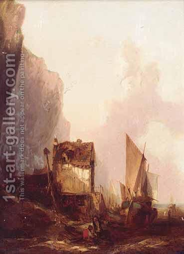 The Shipyard by (after) Alfred Montague - Reproduction Oil Painting