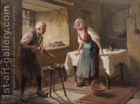 The New Clogs by Alexander Rosell - Reproduction Oil Painting