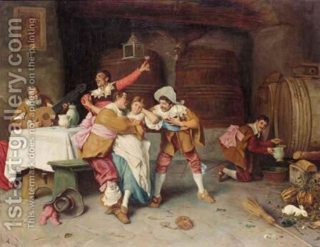 A Tavern Scene by Edwaert Collier - Reproduction Oil Painting