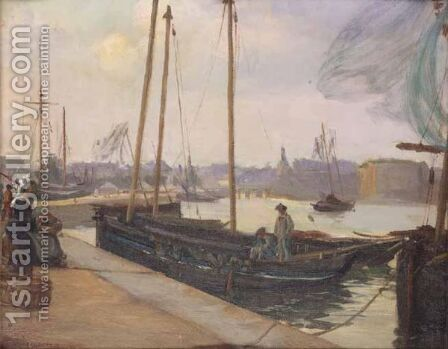 Concarneau by Alfred-Victor Fournier - Reproduction Oil Painting
