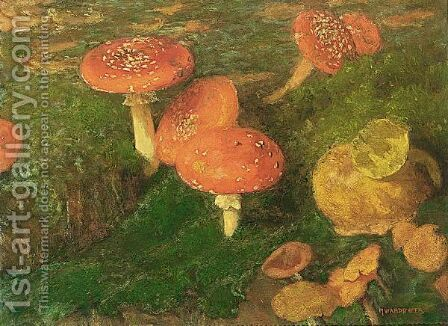 Mushrooms by Marie Wandscheer - Reproduction Oil Painting
