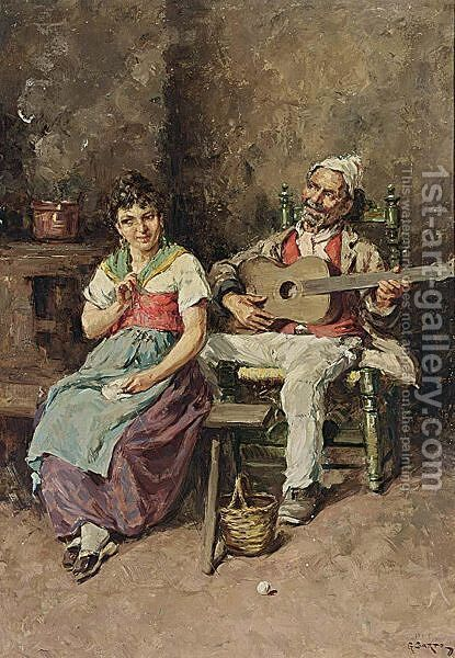 Making Music by Italian School - Reproduction Oil Painting