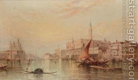 The Grand Canal With The Doge's Palace by Alfred Pollentine - Reproduction Oil Painting