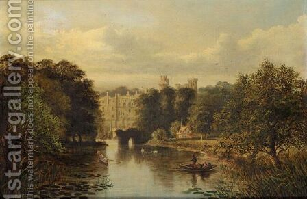 Warwick Castle by Albert Dunington - Reproduction Oil Painting