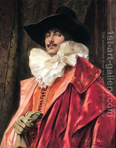 Portrait Of A Man by Alex De Andreis - Reproduction Oil Painting