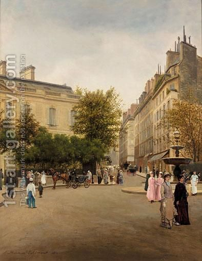 Place St Georges, Paris by Adolphe Martial Potemont - Reproduction Oil Painting