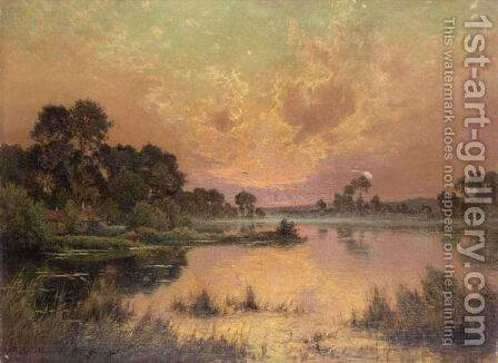 Soleil Couchant, Vallee De La Somme by Albert Gabriel Rigolot - Reproduction Oil Painting