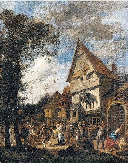 The May Dance by Jan Steen - Reproduction Oil Painting