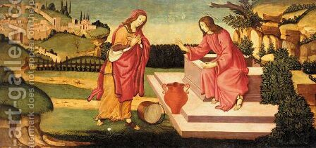 Christ And The Woman Of Samaria At The Well by (after) Sandro Botticelli (Alessandro Filipepi) - Reproduction Oil Painting