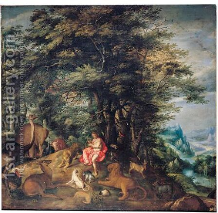 Orpheus Charming The Animals by Denys Van Alsloot - Reproduction Oil Painting