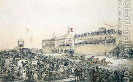 The Running Of The First Races At Brussels by Henri Hendrickx - Reproduction Oil Painting