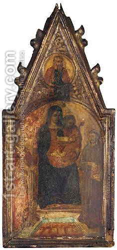 The Madonna And Child With Saint Nicolas Of Bari And Saint Augustine by (after) Bicci Di Lorenzo - Reproduction Oil Painting