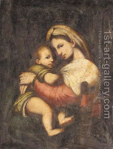 The Madonna And Child by (after) Raphael (Raffaello Sanzio of Urbino) - Reproduction Oil Painting