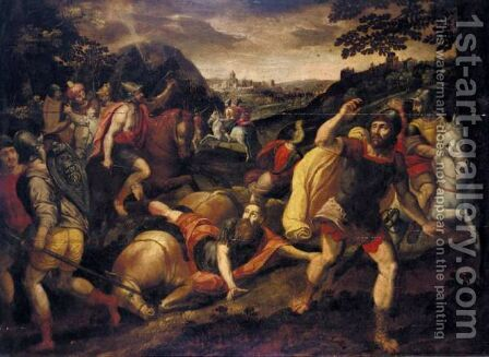 The Conversion Of Saul by (after) Maarten De Vos - Reproduction Oil Painting