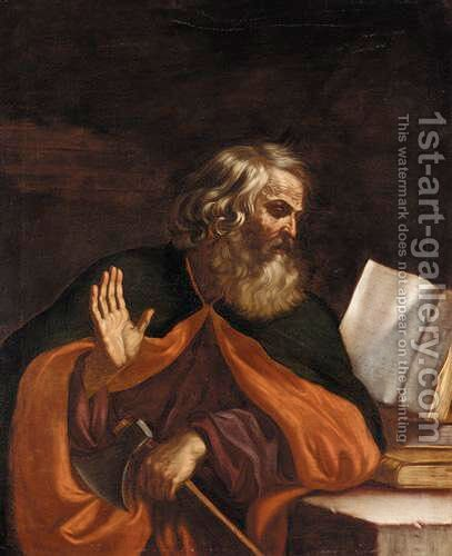 The Apostle Matthew by (after) Giovanni Francesco Guercino (BARBIERI) - Reproduction Oil Painting