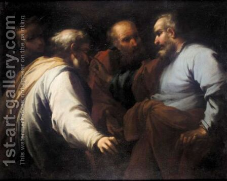 Saint Peter And Three Disciples by (after) Pietro Muttoni, Il Pietra Della Vecchia - Reproduction Oil Painting