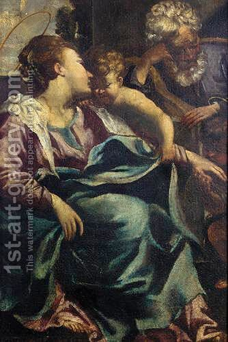 The Holy Family With Saint John The Baptist by (after) Guido Reni - Reproduction Oil Painting