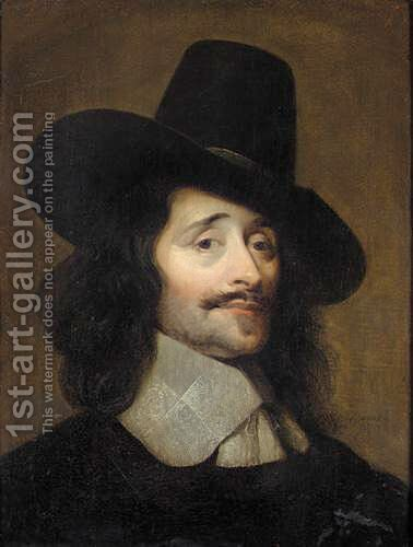 Portrait Of A Gentleman, Said To Be Adrien Sticke by (after) Johannes Cornelisz. Verspronck - Reproduction Oil Painting