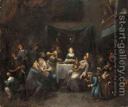 An Interior With A Marriage Scene by Bernardus Van Schendel - Reproduction Oil Painting