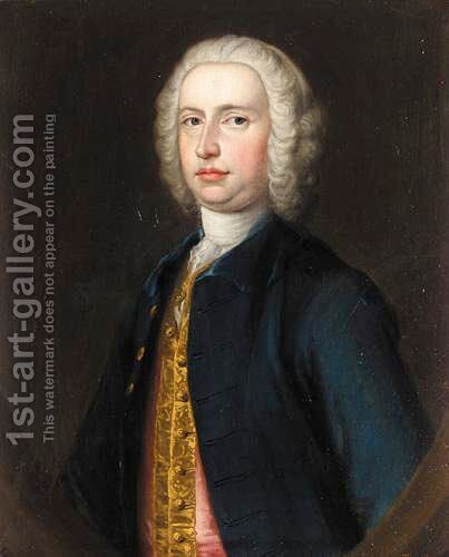 Portrait Of Mr Blackwell by (after) Hudson, Thomas - Reproduction Oil Painting