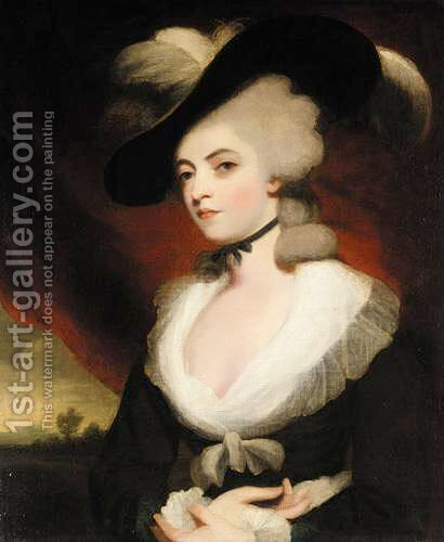Portrait Of Mrs Robinson 3 by (after) Sir Joshua Reynolds - Reproduction Oil Painting