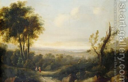 Landscape At Sunset by (after) John Rathbone - Reproduction Oil Painting
