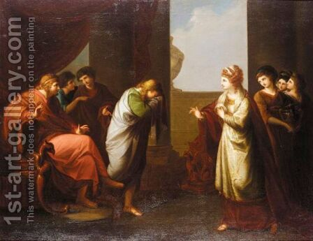 Telemachus At The Court Of Sparta by (after) Kauffmann, Angelica - Reproduction Oil Painting