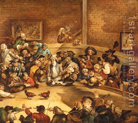 The Cock Fight by (after) William Hogarth - Reproduction Oil Painting