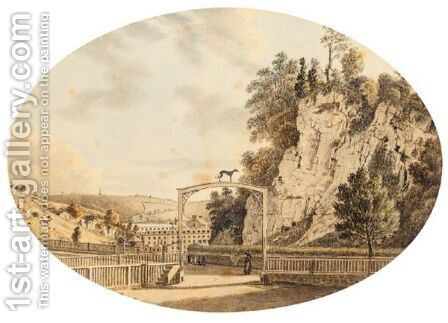 View At Cromford, Derbyshire by (after) Paul Sandby - Reproduction Oil Painting