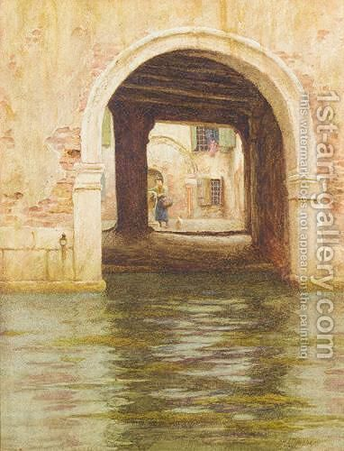 A Side Canal, Venice by Helen Mary Elizabeth Allingham, R.W.S. - Reproduction Oil Painting