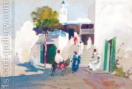 Mosque Of Sidi by Hercules Brabazon Brabazon - Reproduction Oil Painting